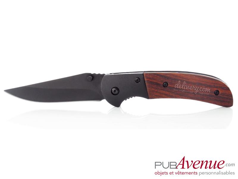 Couteau personnalisable avec cran d'arrêt pliable