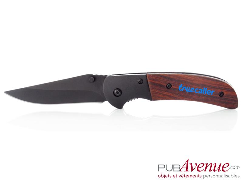Couteau avec cran d'arrêt pliable personnalisé