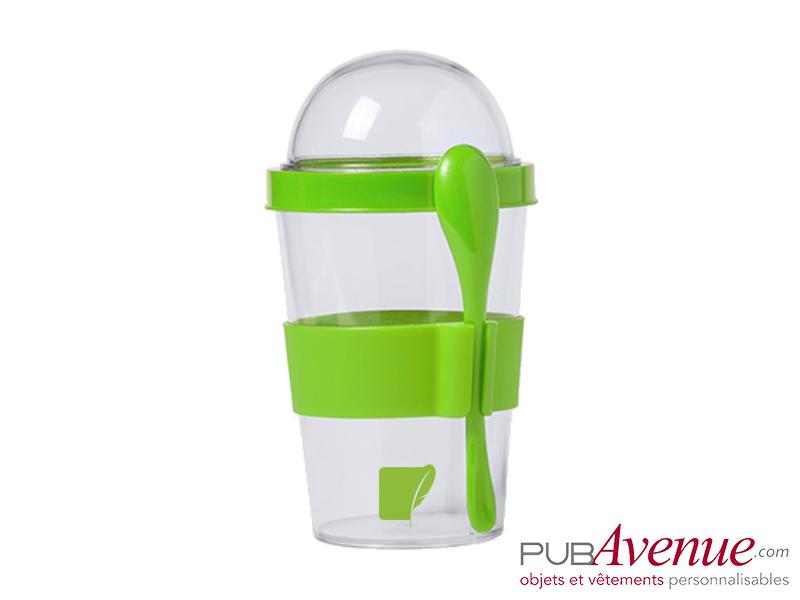 Pot à yaourt personnalisable transport céréales