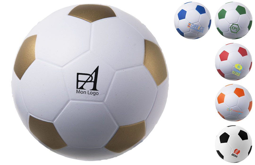 Balle anti-stress publicitaire ballon de foot