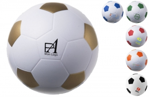anti-stress personnalisable logo publicitaire en forme de ballon de football