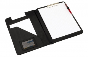 Conférencier porte folio pince attache documents