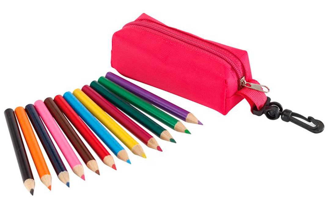 trousse de 12 crayons de couleurs personnaliser. Black Bedroom Furniture Sets. Home Design Ideas