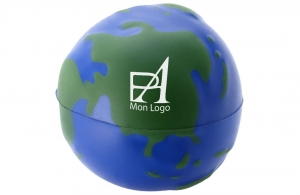 Boule anti-stress personnalisable globe terrestre
