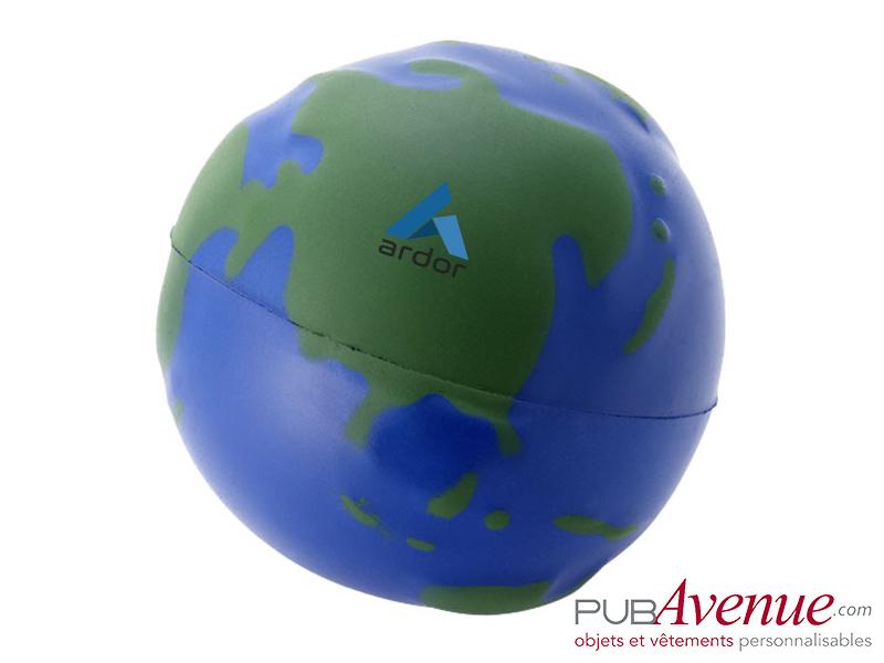 Globe personnalisé anti-stress