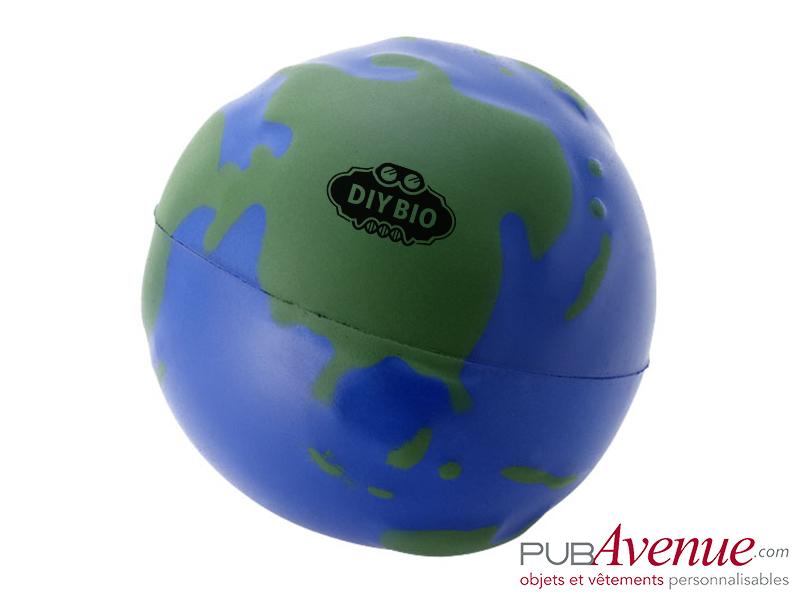 Globe publicitaire anti-stress