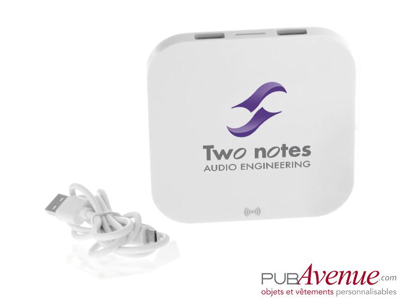 Chargeur sans fil personnalisé 2 ports USB