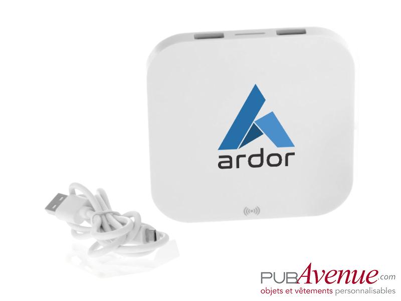 Chargeur sans fil 2 ports USB personnalisable