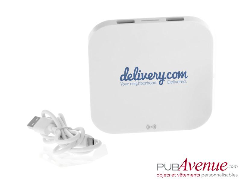 Chargeur sans fil 2 ports USB personnalisé