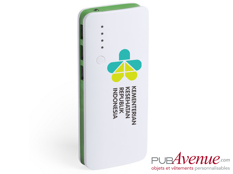 Power bank personnalisable 10000 mAh chargeur