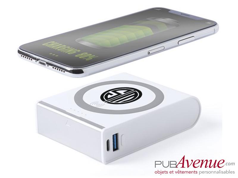 Chargeur sans fil personnalisable 8000 mAh