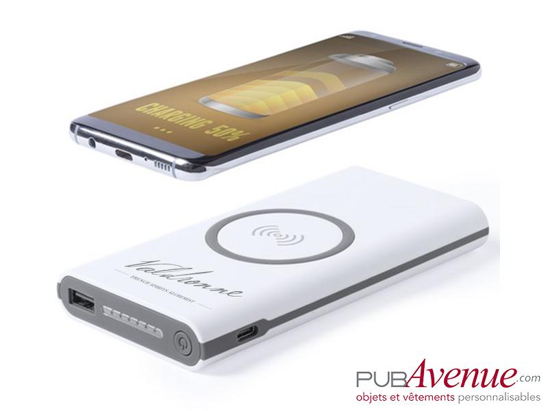 Chargeur sans fil personnalisable 6000 mAh