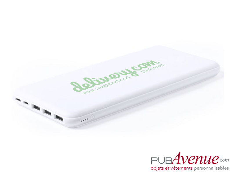 Powerbank 3 sorties USB personnalisable 20000 mAh