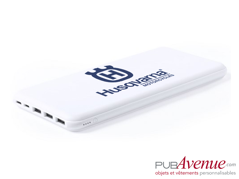 Powerbank 3 sorties USB 20000 mAh personnalisable