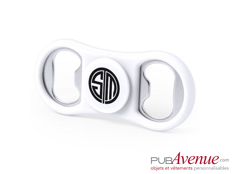 Ouvre bouteille hand spinner personnalisable