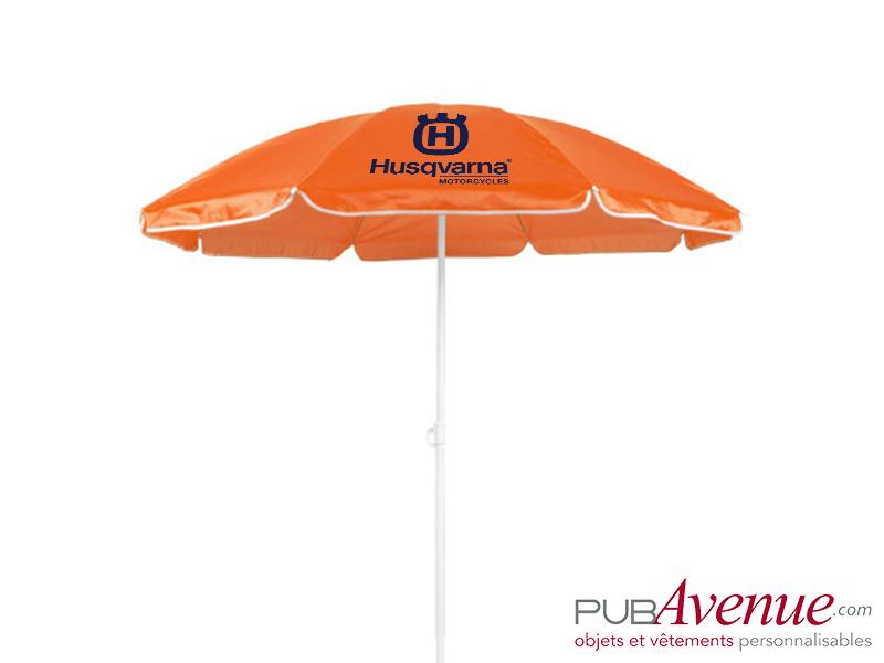 Parasol publicitaire de plage