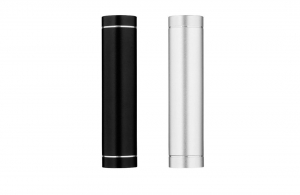 Power Bank cylindrique 1800 mAh en métal avec LED