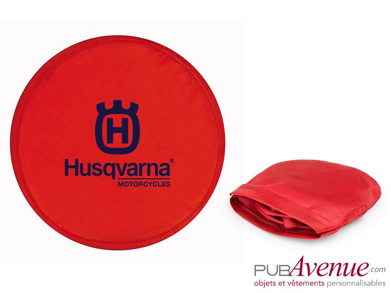 Frisbee pliable avec pochette personnalisé