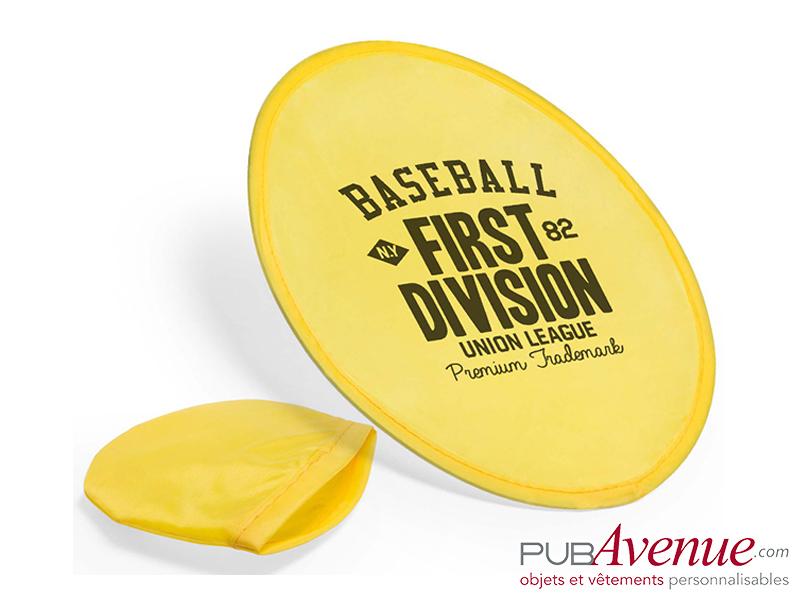 Frisbee pliable publicitaire avec pochette