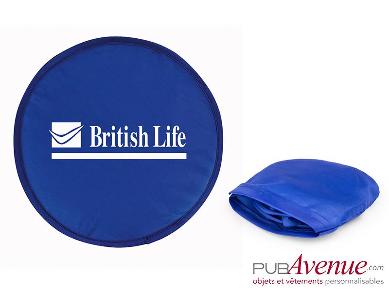 Frisbee pliable personnalisé avec pochette