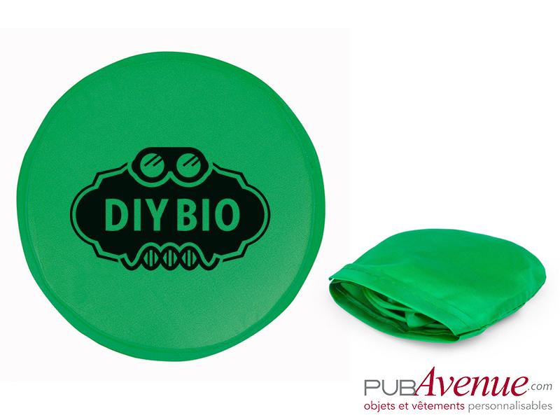 Frisbee pliable personnalisable avec pochette
