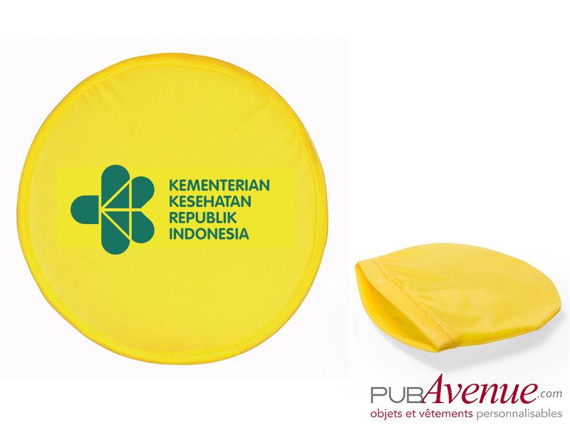 Frisbee pliable avec pochette publicitaire