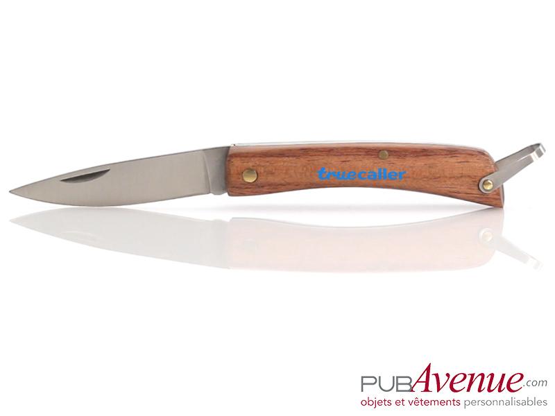 Couteau pliable en bois personnalisable