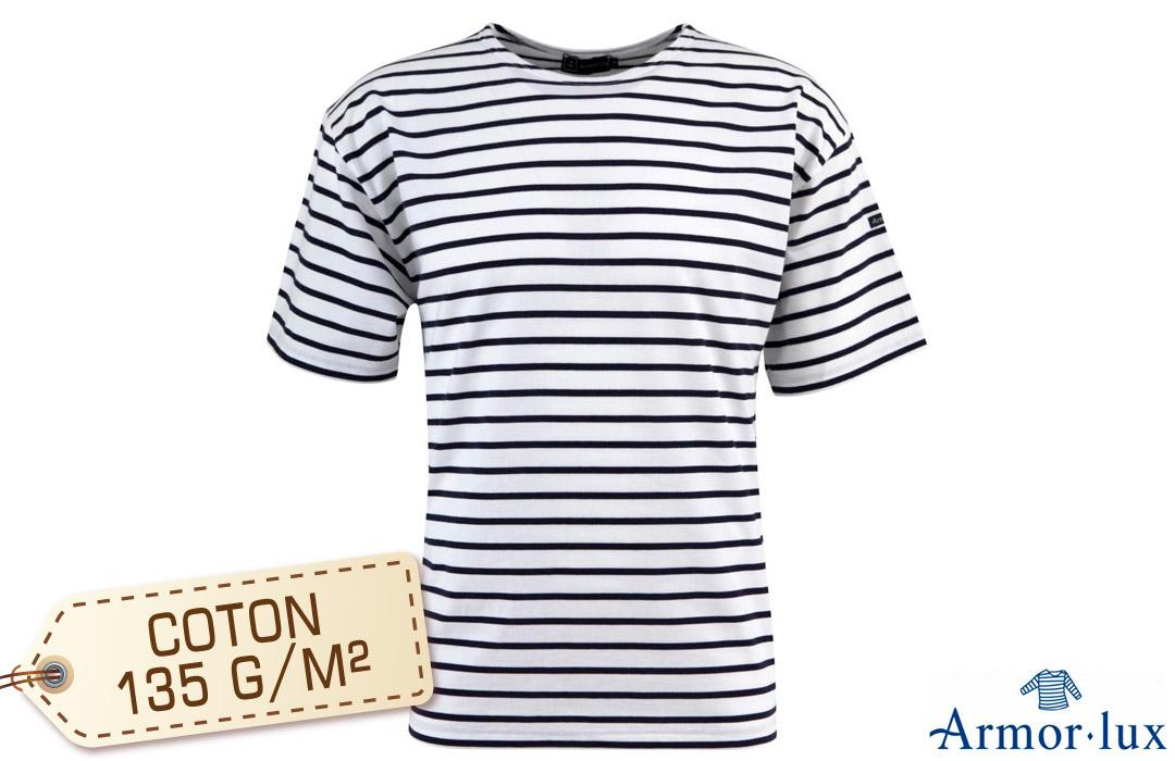 2384eecfcb5 T-shirt marinière manches courtes à personnaliser avec votre logo