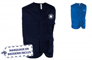 Gilet multipoches ambulancier mixte