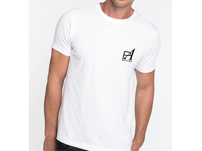 t shirt homme personnalis pour artisan logo publicitaire pas cher. Black Bedroom Furniture Sets. Home Design Ideas