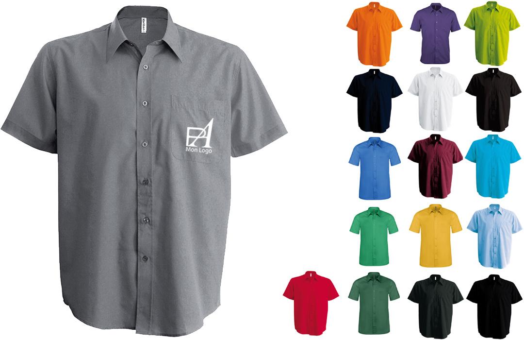 Chemise homme personnalisée pour entreprise logo texte publicitaire 3430f919237