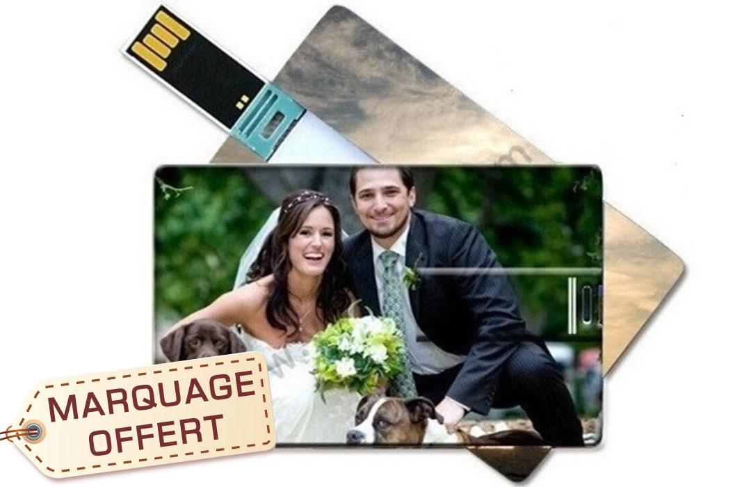 cl usb personnalis e mariage avec photo pour cadeau invit s pas cher. Black Bedroom Furniture Sets. Home Design Ideas