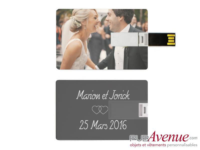 Clé USB publicitaire mariage bois
