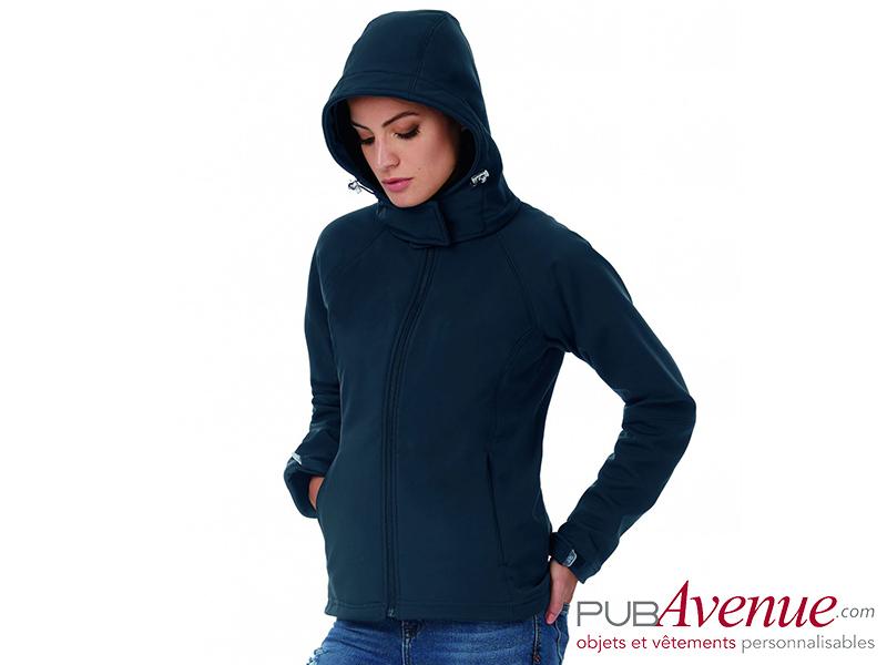 Veste capuche Softshell personnalisée femme
