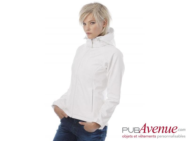 Veste capuche Softshell publicitaire femme