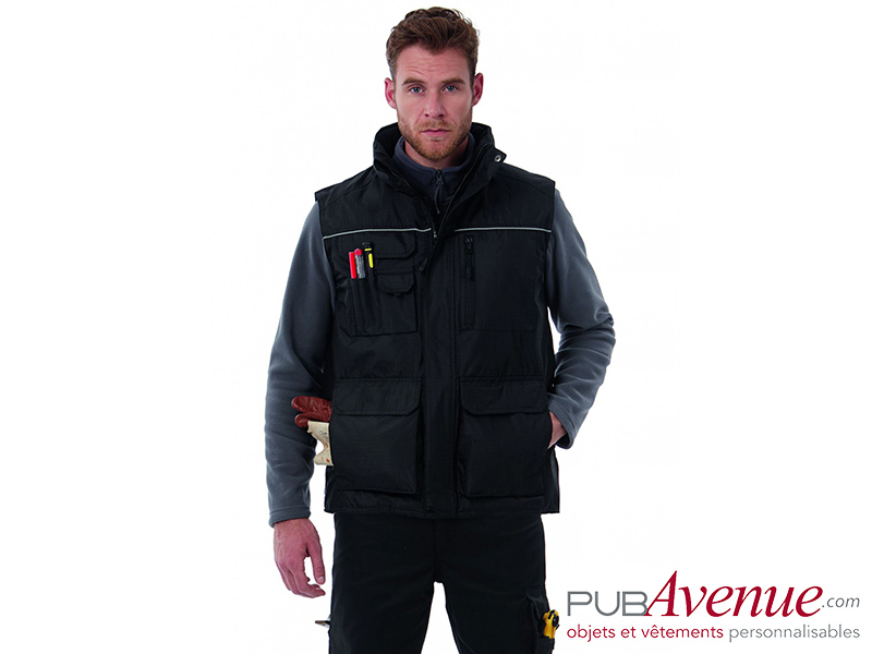 Bodywarmer multipoches professionnel personnalisable