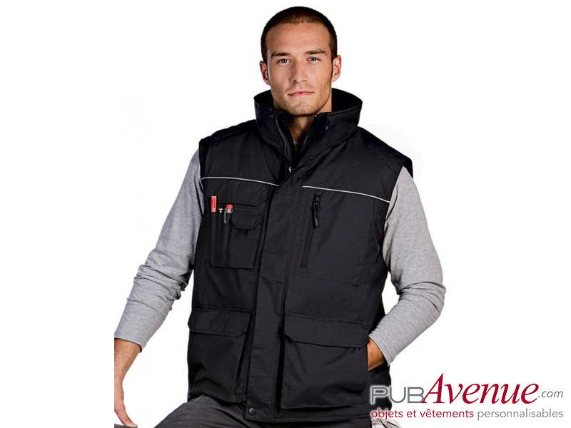 Bodywarmer multipoches personnalisable professionnel