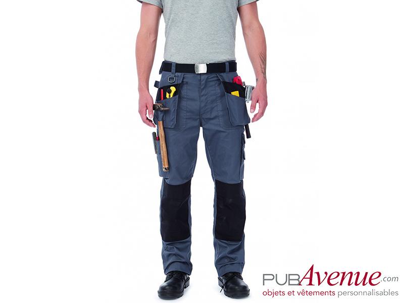 Pantalon professionnel multipoches personnalisable