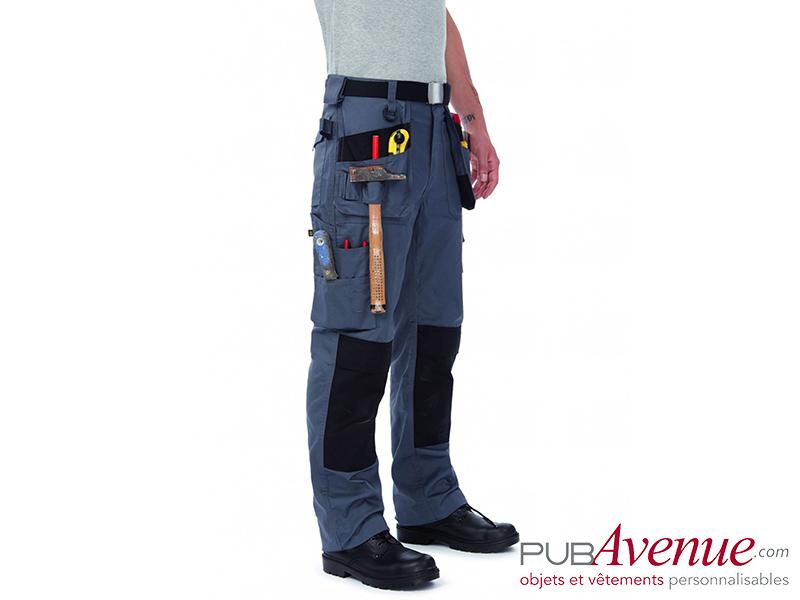 Pantalon professionnel multipoches personnalisé