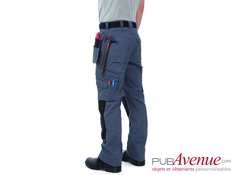 Pantalon professionnel multipoches publicitaire