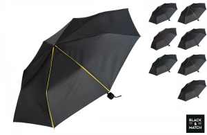 Mini parapluie pliable Black & Match à personnaliser