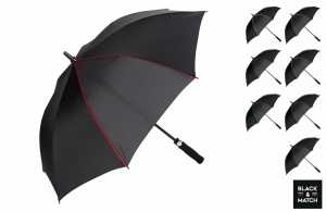 Parapluie de gold personnalisable Black & Match