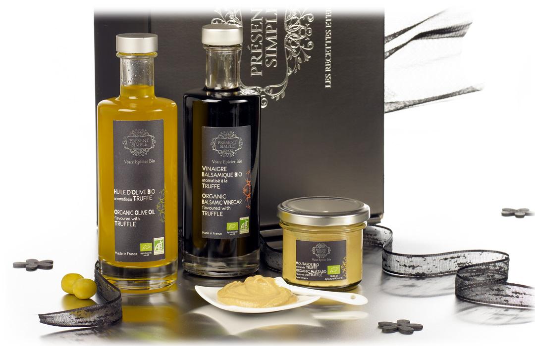 cadeau d 39 affaire coffret gourmand bio base de truffe. Black Bedroom Furniture Sets. Home Design Ideas