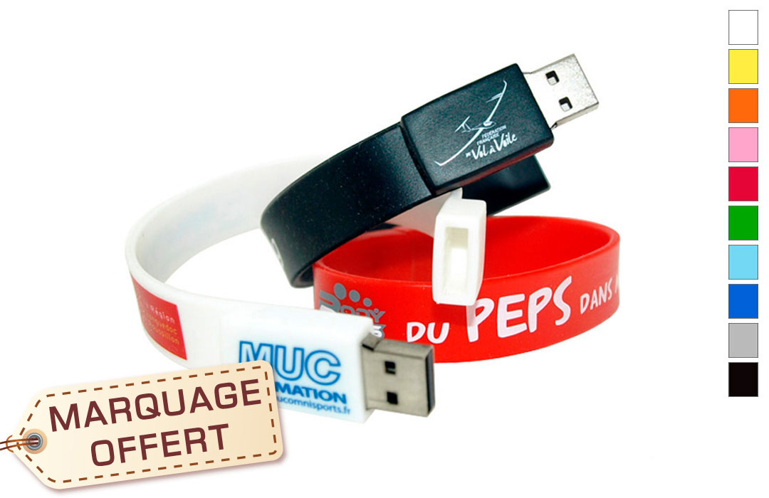 bracelet usb personnalis logo publicitaire entreprise pas. Black Bedroom Furniture Sets. Home Design Ideas