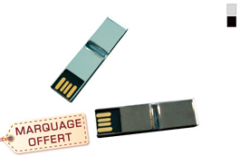 Clé usb pince documents en métal