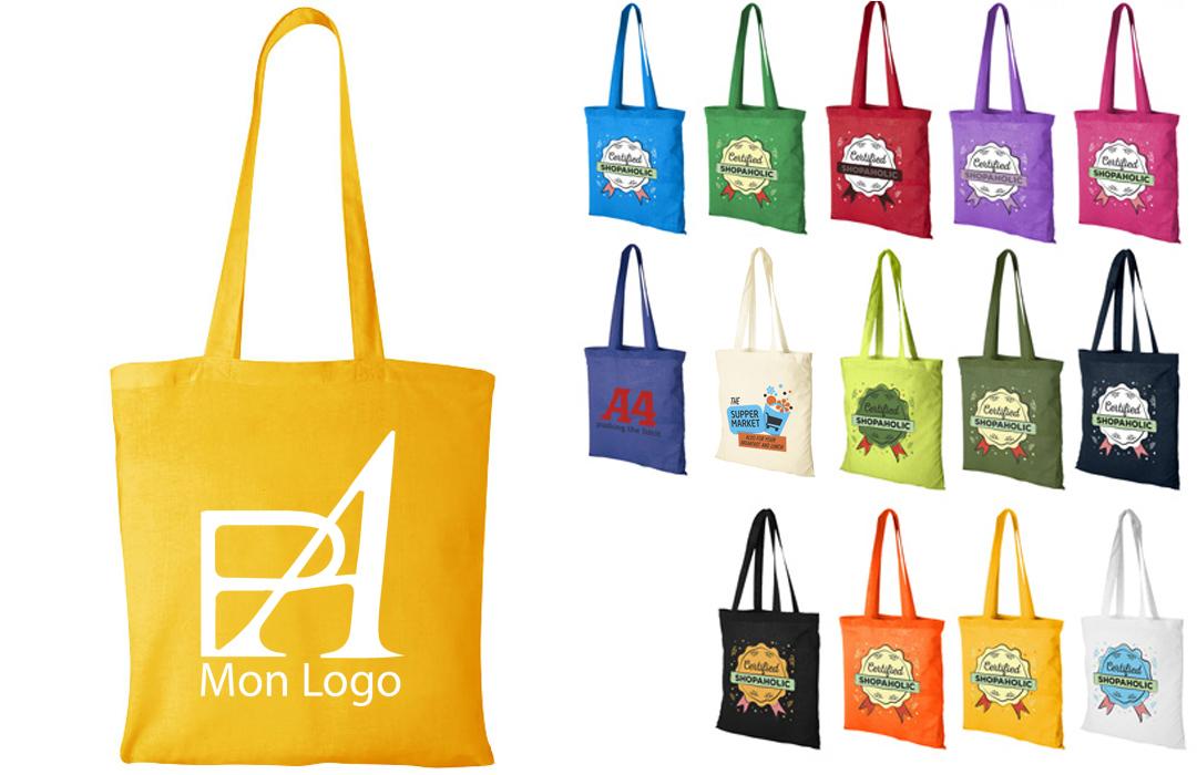sac coton personnalis pour commer ant logo publicitaire. Black Bedroom Furniture Sets. Home Design Ideas