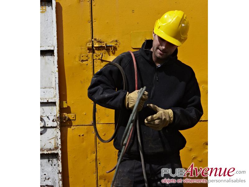 Pull polaire personnalisable zippé professionnel
