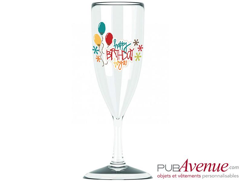 Coupe à champagne personnalisée pour anniversaire livraison express
