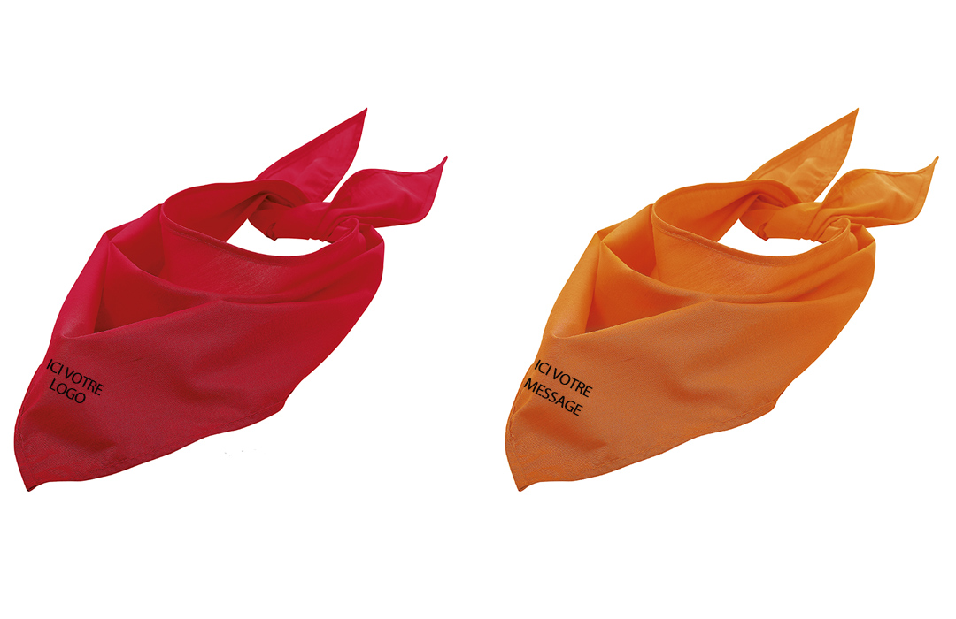 bandana f ria personnalisable flocage logo vente en gros pas cher. Black Bedroom Furniture Sets. Home Design Ideas