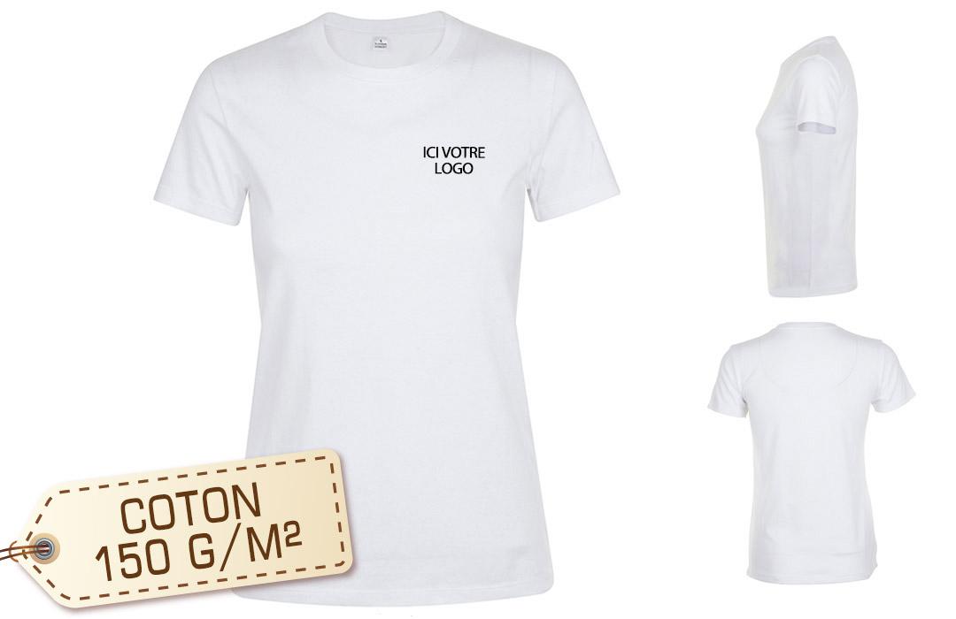 Tee shirt publicitaire personnalisé femme